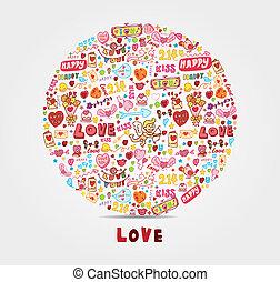 cartone animato, amore, scheda