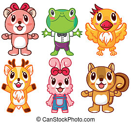 Musica cartone animato animale icona vettore di clipart - Animale cartone animato immagini gratis ...