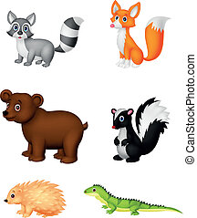 cartone animato, animale, selvatico