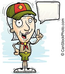 cartone animato, anziano, esploratore, parlare
