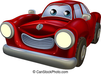 cartone animato, automobile, mascotte