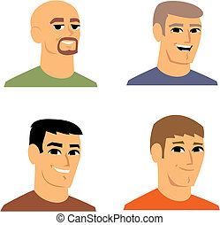 cartone animato, avatar, illustrazione ritratto
