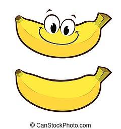cartone animato, banana