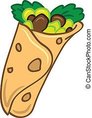 cartone animato, burrito