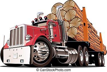 cartone animato, camion annotante