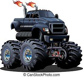 cartone animato, camion, mostro