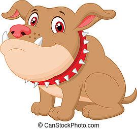 cartone animato, carino, bulldog