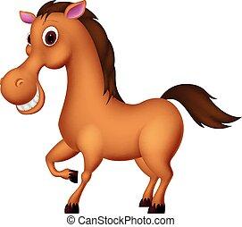 cartone animato, cavallo