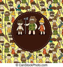 cartone animato, caveman, scheda
