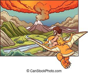 cartone animato, caveman