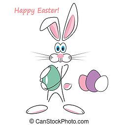 cartone animato, coniglio pasqua