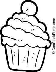 cartone animato, cupcake