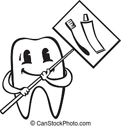 cartone animato, dente