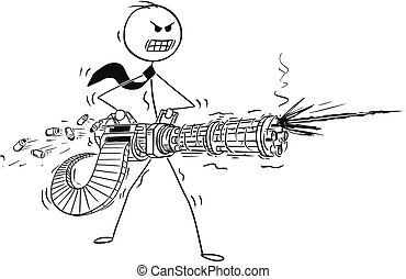 Minigun illustrazioni di clipart minigun for Piani domestici in stile hawaiano
