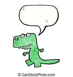 cartone animato, divertente, dinosauro