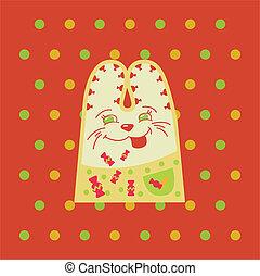 cartone animato, divertimento, coniglio