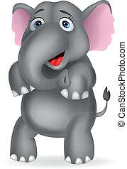 cartone animato, elefante