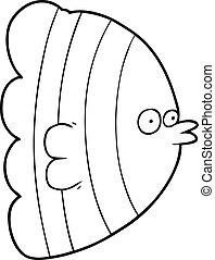 cartone animato, esotico, fish