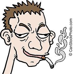 cartone animato, fumo