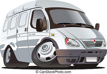 cartone animato, furgone