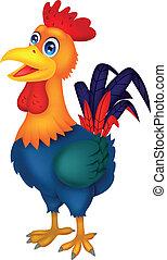cartone animato, gallo