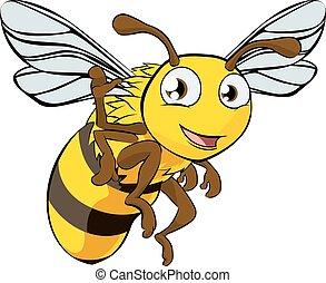 cartone animato, illustrazione, ape