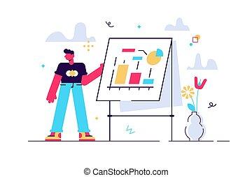 cartone animato, illustrazione uomo, vettore, fabbricazione