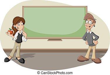 cartone animato, insegnanti