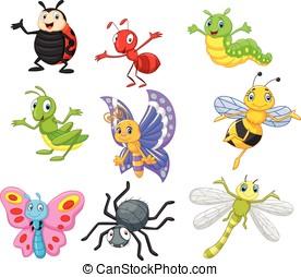 cartone animato, insetto