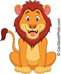 cartone animato, leone, carino