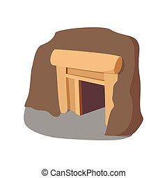 cartone animato, miniera, icona