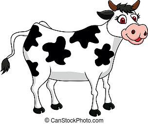 cartone animato, mucca