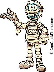 cartone animato, mummia