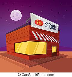 cartone animato, negozio