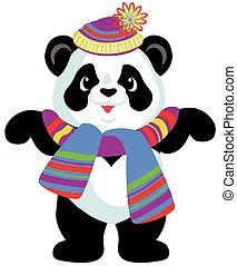cartone animato, orso, panda