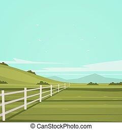 cartone animato, paesaggio