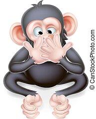 cartone animato, parlare, scimmia, male, no