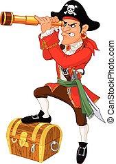 cartone animato, pirata