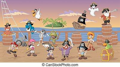 cartone animato, pirati