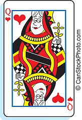 cartone animato, regina cuori