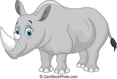 cartone animato, rinoceronte