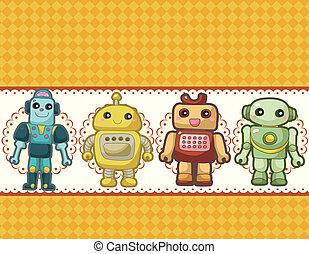 cartone animato, robot, scheda