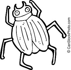 cartone animato, scarabeo