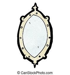 cartone animato, specchio