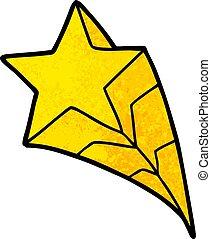 cartone animato, stella cadente