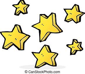 cartone animato, stelle