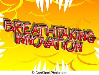 cartone animato, stile, parole, libro comic, innovazione, ...