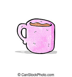 cartone animato, tazza