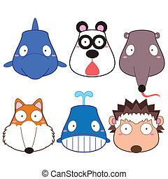 Testa animale illustrazioni e archivi di immagini - Animale cartone animato immagini gratis ...