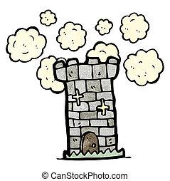 cartone animato, torre